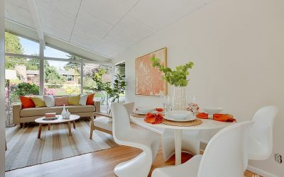 A Pop of Citrus in this Midcentury Wedgwood Home